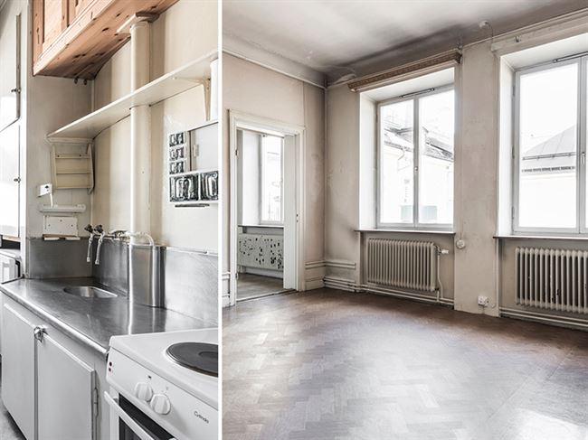 Köket är från svunna tider, skriver mäklaren i bostadsannonsen. Foto: Elisabeth Daly
